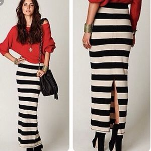 Free people maxi striped skirt